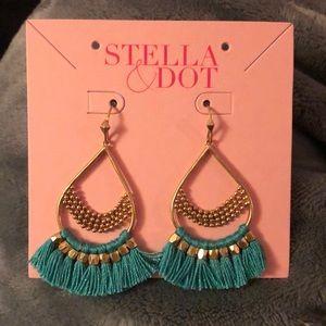 Stella & Dot Roman Chandelier Turquoise